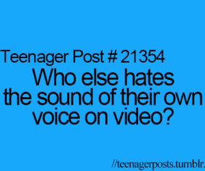 teenager post, voice, and video image