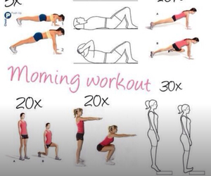 sport, workout, and morning image
