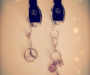 couple, luxury, and mercedes image