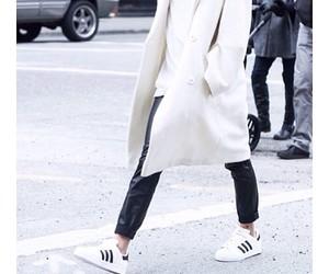 adidas, coat, and minimalism image