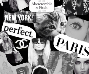 abercrombie and fitch, black and white, and chanel image