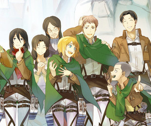 anime, snk, and aot image