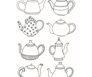 art, kettle, and teapot image