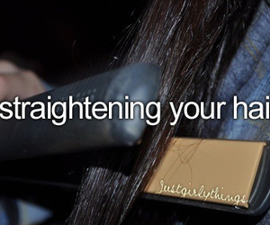 hair and straightening image