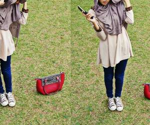bag, convers, and girl image