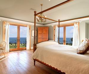 bedroom, sea, and luxury image