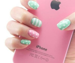 apple, girl, and mobile image