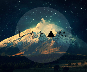 Dream, mountains, and stars image