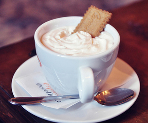 coffee, cookie, and drink image