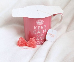drink, heart, and keep calm image