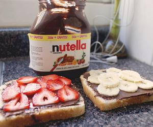 nutella, strawberry, and banana image
