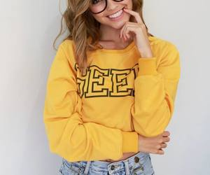 beauty, smile, and clothes image