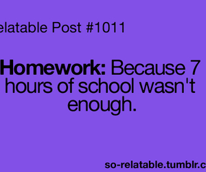 school and homework image