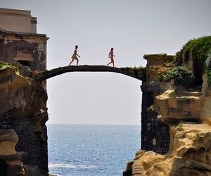 sea, bridge, and summer image