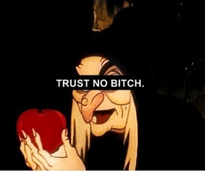 bitch, trust, and apple image