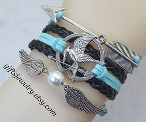 bijoux, hipster jewelry, and wings bracelet image