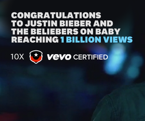 baby, vevo, and beliebers image
