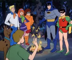 batman, robin, and scooby doo image