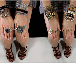 girl, accessories, and bracelets image