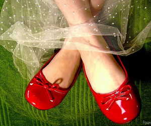red, shoes, and green image
