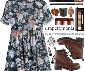 boots, dress, and girl image