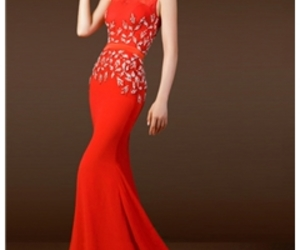 high quality clothes, red dress, and modest dresses image