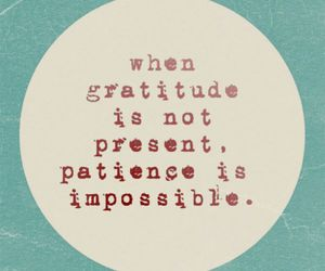 gratitude, patience, and quotes image
