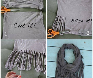 diy, scarf, and Easy image