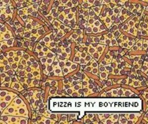 pizza, boyfriend, and food image
