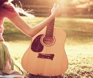 guitar, music, and sun image