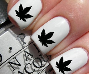 nails, white, and marijuana image