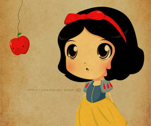 snow white, apple, and disney image