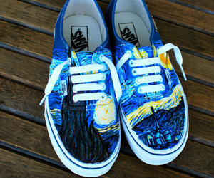 i, navy vans authentic, and starry night vans shoes image