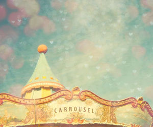 carrousel, pastel, and carousel image