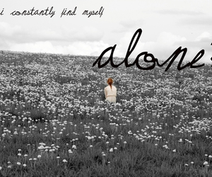 alone, girl, and lonliness image
