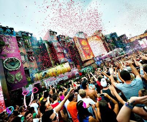 happy, Tomorrowland, and people image