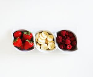 fruit, strawberry, and banana image
