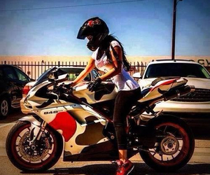 girl, motorcycle, and @ambrgrace image