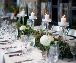 candles, flowers, and entertain image