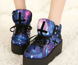 shoes, galaxy, and sneakers image