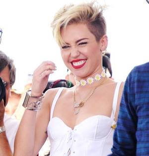 laugh, miley cyrus, and smile image