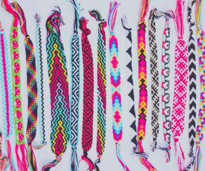 bracelet, colorful, and pink image