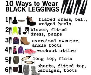 leggings, black, and outfit image