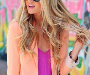 fashion, pink, and blonde image