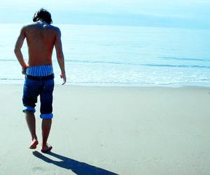 boy and beach image