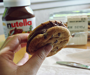 chocolat, cookie, and nutella image