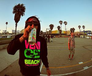 boy, beach, and california image