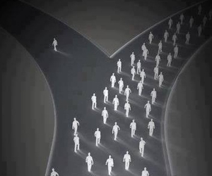 alone, different, and people image