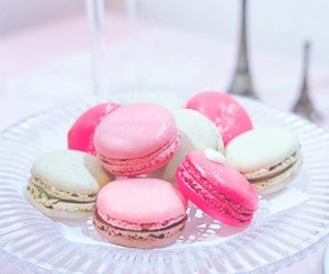 macarons, paris, and pink image