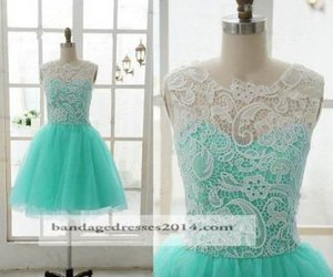 lace prom dresses and short green prom dresses image